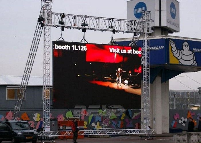 Pixel Pitch 10mm Led Screen Stage Backdrop SMD3535 3 IN 1 1/4 Scan ضد آب